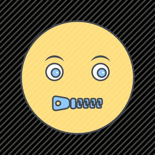 emoji, emoticon, face, mute icon