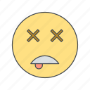dead, emoji, emoticon, face icon
