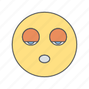 emoji, emoticon, face, sleep icon