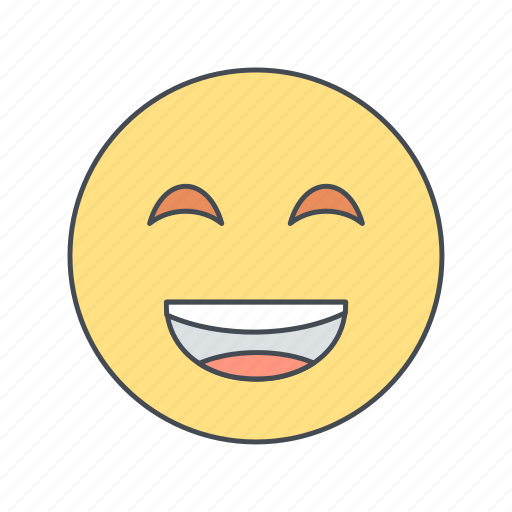 emoji, emoticon, laughing, smile icon