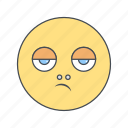 disappointed, emoji, emoticon, face icon