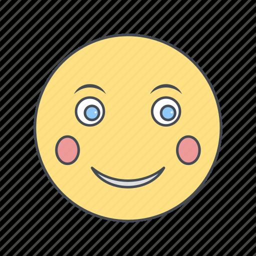 blush, emoji, emoticon, face icon
