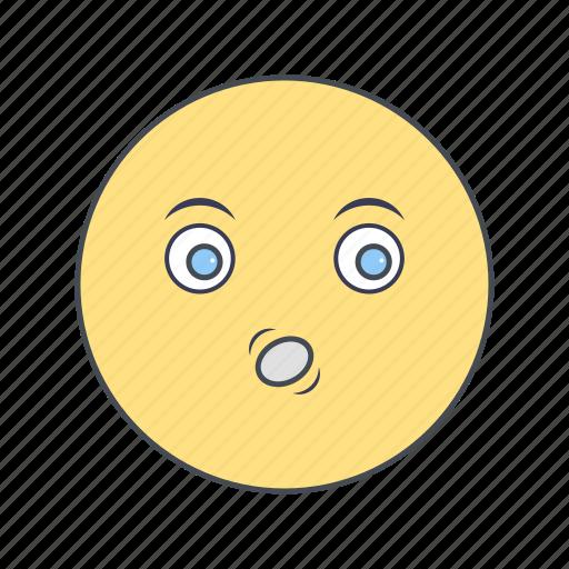 emoji, emoticon, face, whistle icon