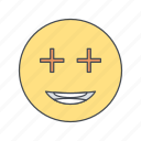 emoji, emoticon, face, positive icon