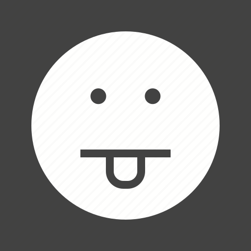 expression, human, mouth, pill, sticking, tongue icon