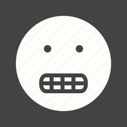 angry, cool, funny, grin, mouth, smile, teeth icon