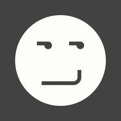expression, happy, person, smile, smirk, smirking icon
