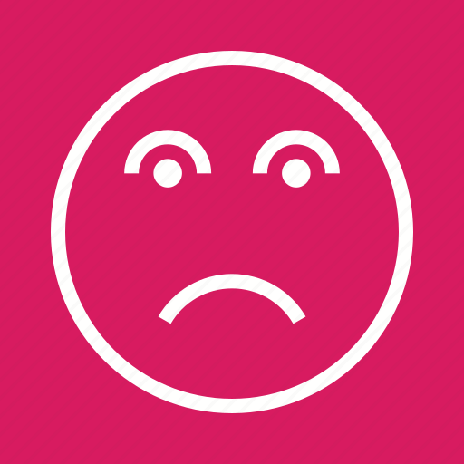 anxiety, depressed, depression, disappointed, disappointment, frustration, stress icon
