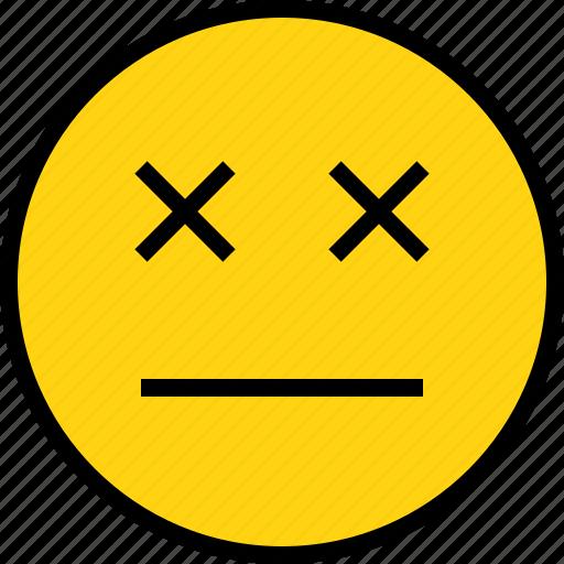 die, emotion, face, status icon