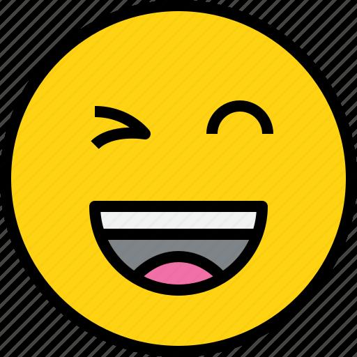 emotion, face, happy, status icon