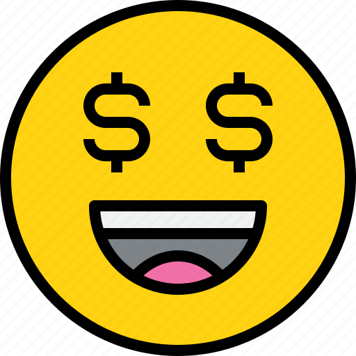 emotion, face, money, status icon