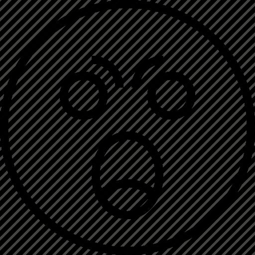 angry, emoji, emotion, face, status icon