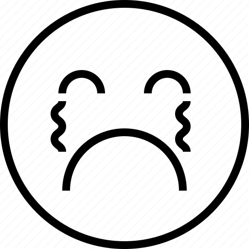 cry, emoji, emotion, face, status icon