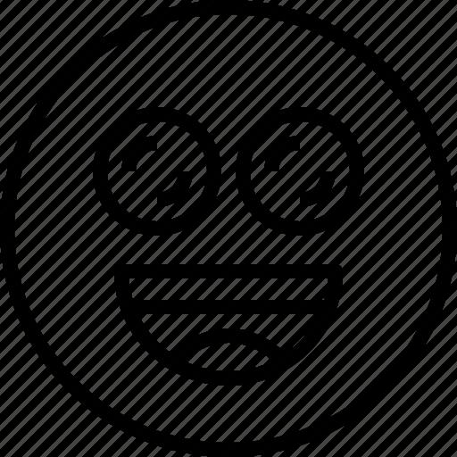 emoji, emotion, exciting, face, status icon