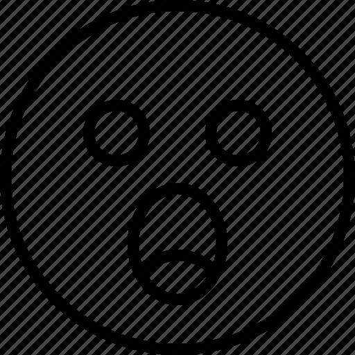emoji, emotion, face, shock, status icon