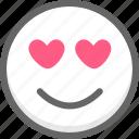 emoji, emotion, like, love, smile, smiley icon
