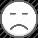 emoji, emotion, face, happy, smiley, unhappy icon