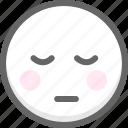 emoji, emotion, face, smile, smiley, think icon