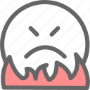 angry, atmosphere, emotion, fury, rage, smiley, wrath icon