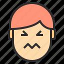 afraid, avatar, emotion, face, profile icon