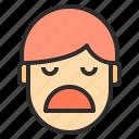 avatar, boring, emotion, face, profile icon