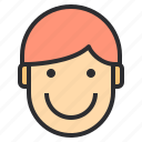 avatar, emotion, face, happy, profile icon