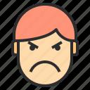 avatar, emotion, face, mad, profile icon