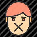 avatar, emotion, face, profile, silencce icon