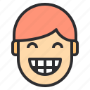 avatar, emotion, face, happy, profile, smile icon
