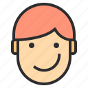 avatar, emotion, face, profile, smiling icon