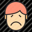 avatar, emotion, face, profile, sorrow icon