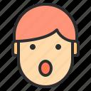 avatar, emotion, face, profile, surprise