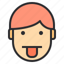 avatar, emotion, face, profile, tongue icon
