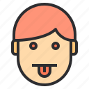 avatar, dazed, emotion, face, profile, tounge icon
