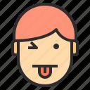 avatar, emotion, face, profile, tounge, winking icon