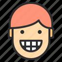 avatar, emotion, face, laught, profile, winking icon