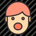 avatar, emotion, face, profile, surprise, wow icon