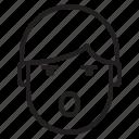 avatar, emotion, face, profile, shouting icon