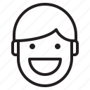 avatar, emotion, face, profile, smile icon