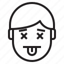 avatar, emotion, face, profile, tounge icon