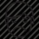 avatar, emotion, face, profile, sad, very icon