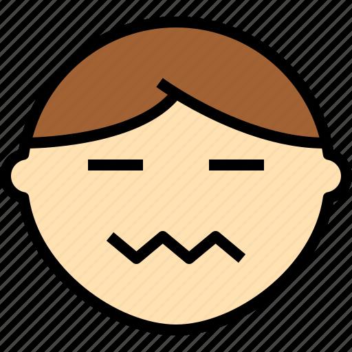 emotion, face, nervou, status icon