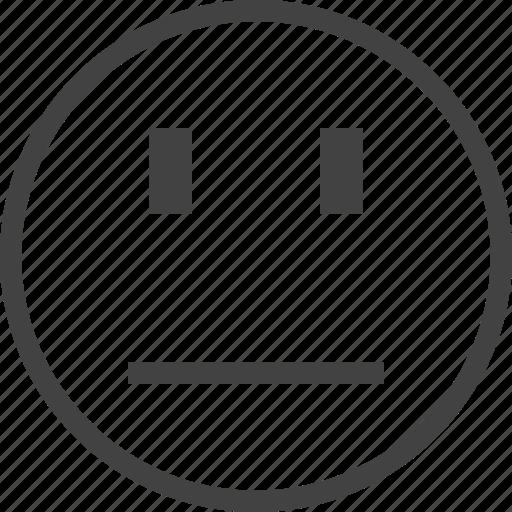 emoji, emoticon, emotion, face, not bothered icon