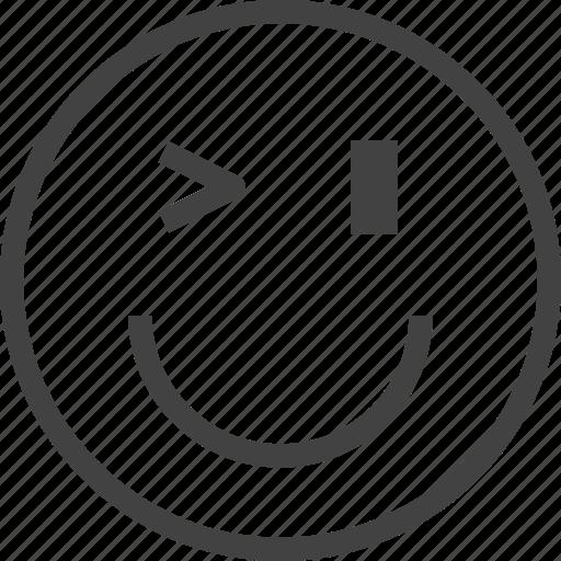 emoji, emoticon, emotion, face, happy, naughty icon