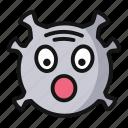 surprise, virus, emoji, smiley face, emoticon, covid, face