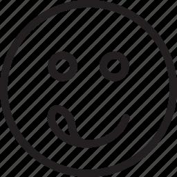 cheeky, emoji, emotions, smiley icon