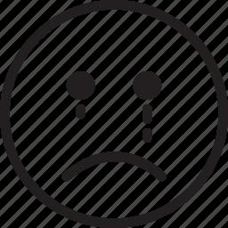 cry, emoji, emotions, smiley icon