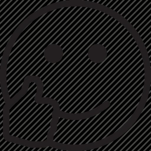emoji, emotions, ok, smile, smiley, yes icon