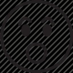 emoji, emotions, shock, smiley, surprise icon