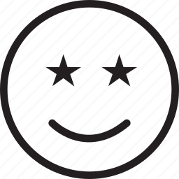 emoji, emotions, smile, smiley, stars icon
